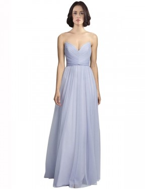 Shop A-Line Spaghetti Straps Sweetheart Floor Length Long Lilac Tulle Roselyn Bridesmaid Dress Geelong