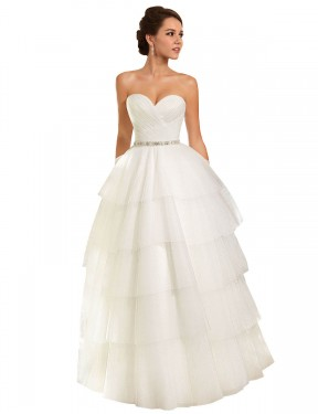 Shop Ball Gown Sweetheart Chapel Train Long Ivory Tulle Molly Wedding Dress Geelong