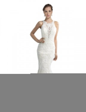 Shop Mermaid Illusion Chapel Train Long Ivory Tulle Lucille Wedding Dress Geelong